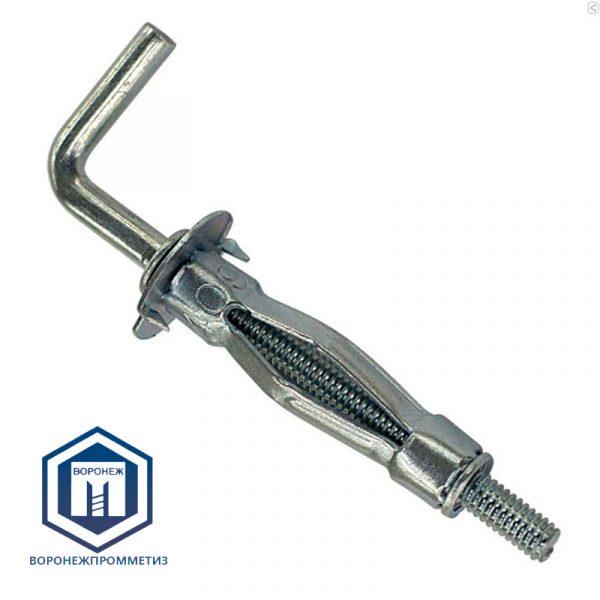 Дюбель металлический для пустотелых конструкций с крючком (Г-образные)