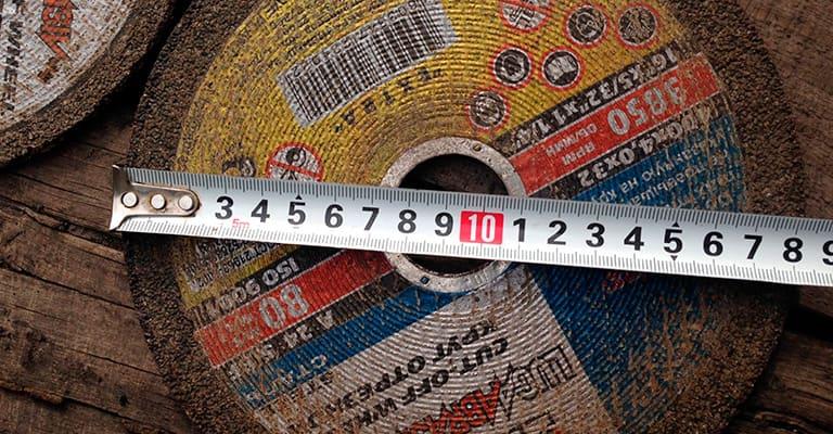 Размеры отрезных дисков